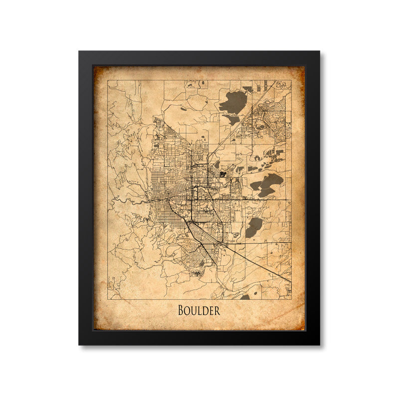 Boulder Map Art Print, Colorado