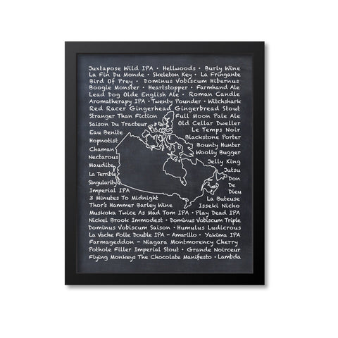 Canada Beer Map Art Print