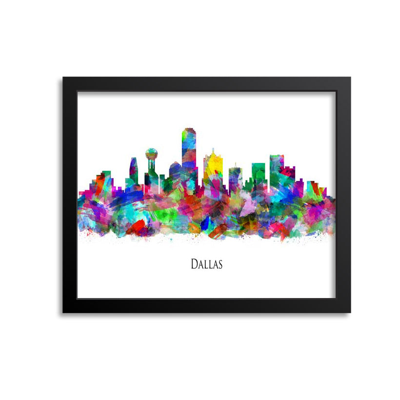 Dallas Skyline Painting Art Print