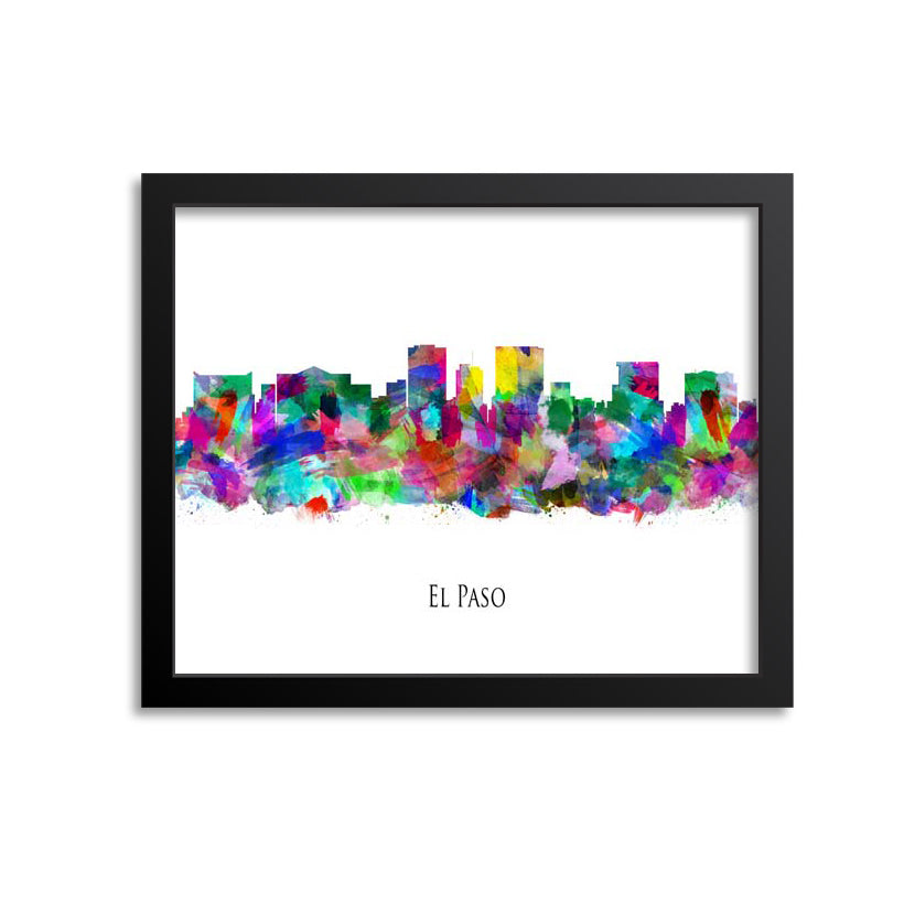 El Paso Skyline Painting Art Print