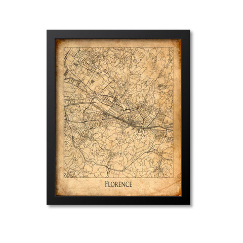 Florence Map Art Print, Italy