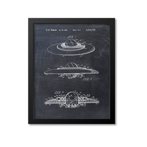 Flying Saucer Patent Print