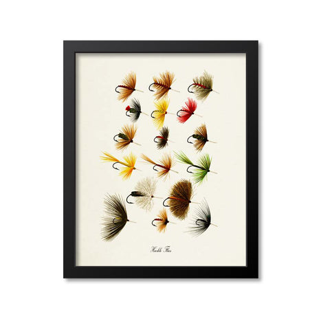 Hackle Flies Art Print