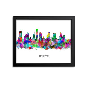 Houston Skyline Painting Art Print