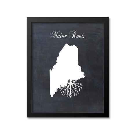 Maine Roots Print