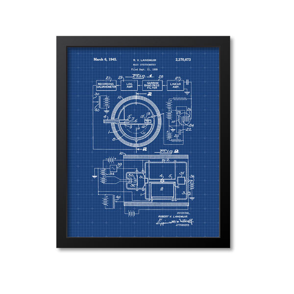 Mass Spectrometry Patent Print