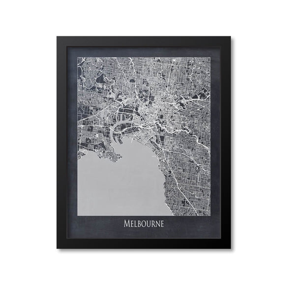 Melbourne Map Art Print, Australia