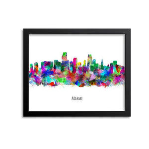 Miami Skyline Painting Art Print
