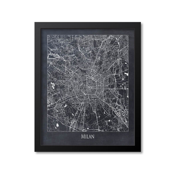 Milan Map Art Print, Italy
