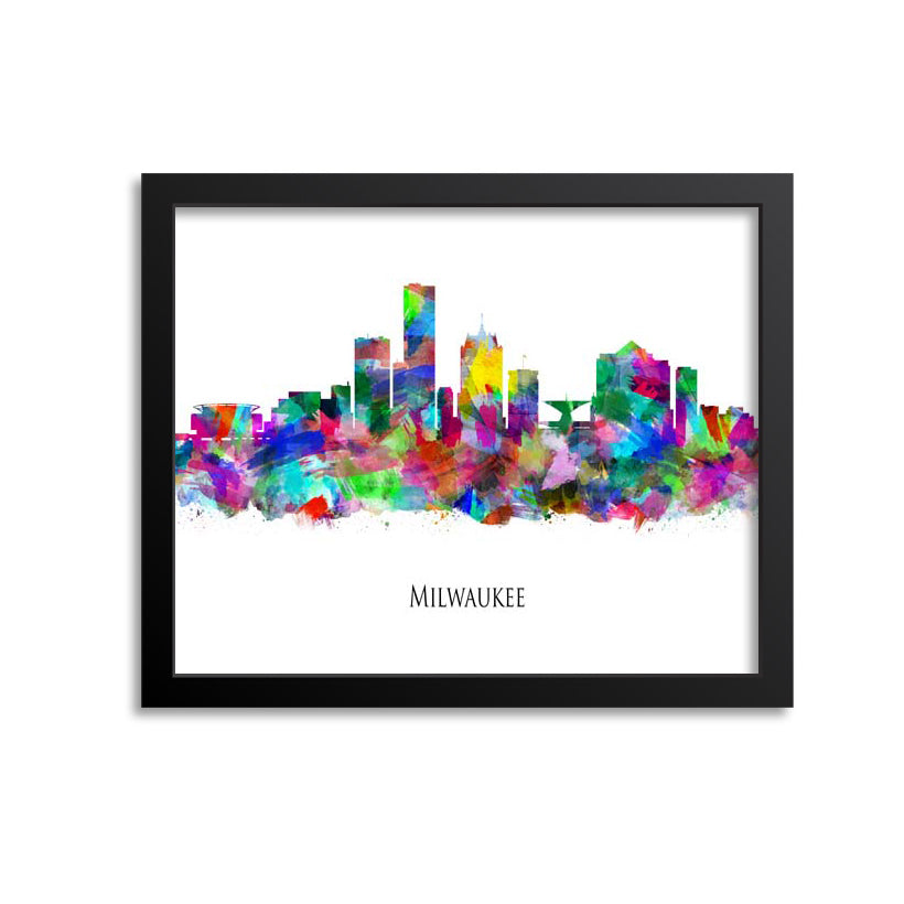 Milwaukee Skyline Painting Art Print