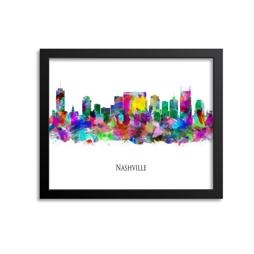 Nashville Skyline Painting Art Print