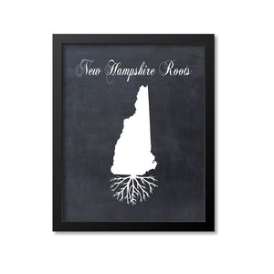 New Hampshire Roots Print
