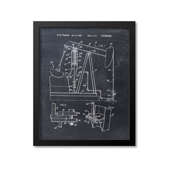 Oil Well Pump Jack Patent Print