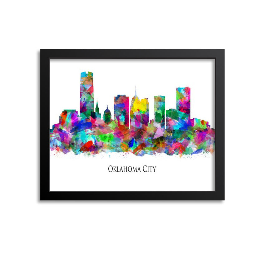 Oklahoma City Skyline Painting Art Print