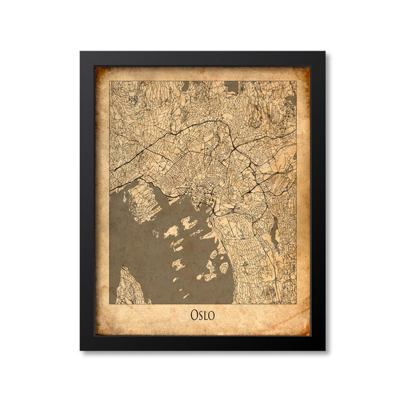 Oslo Map Art Print, Norway