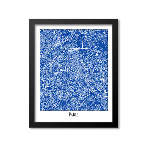 Paris Map Art Print, France