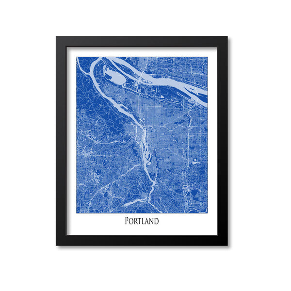 Portland Map Art Print, Oregon
