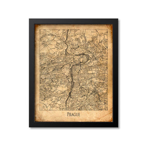 Prague Map Art Print, Czech Republic
