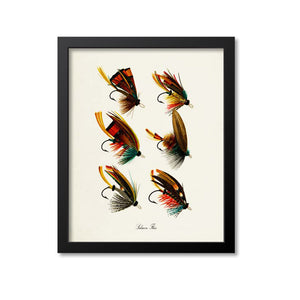 Salmon Flies Art Print
