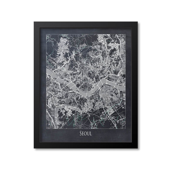 Seoul Map Art Print, South Korea