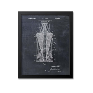 Anatomical Spine Skeleton Print