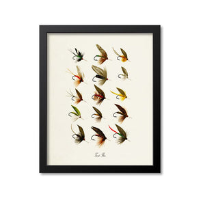 Trout Flies Art Print
