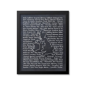UK and Ireland Beer Map Art Print
