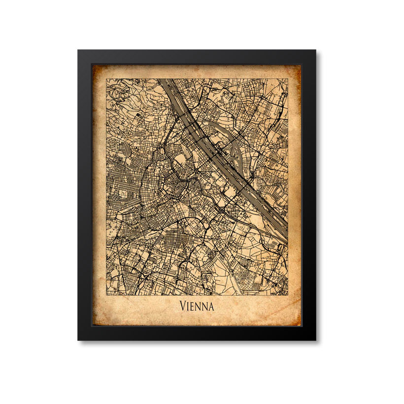 Vienna Map Art Print, Austria