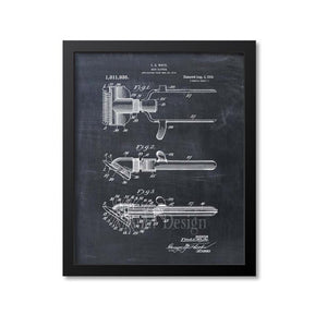 Barber Hair Clipper Patent Print