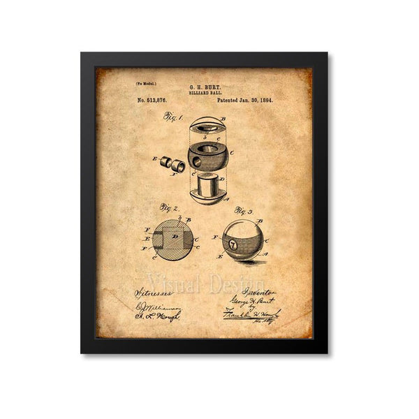 Billiard Ball Patent Print