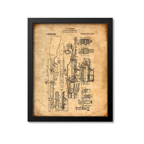 Browning Automatic Rifle Patent Print