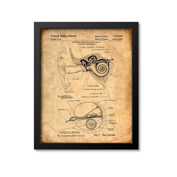 Cochlear Implant Patent Print