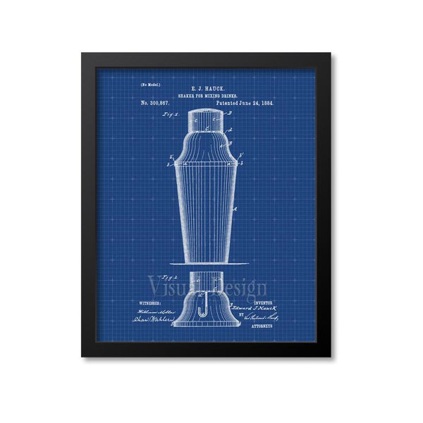 Cocktail Shaker Patent Print