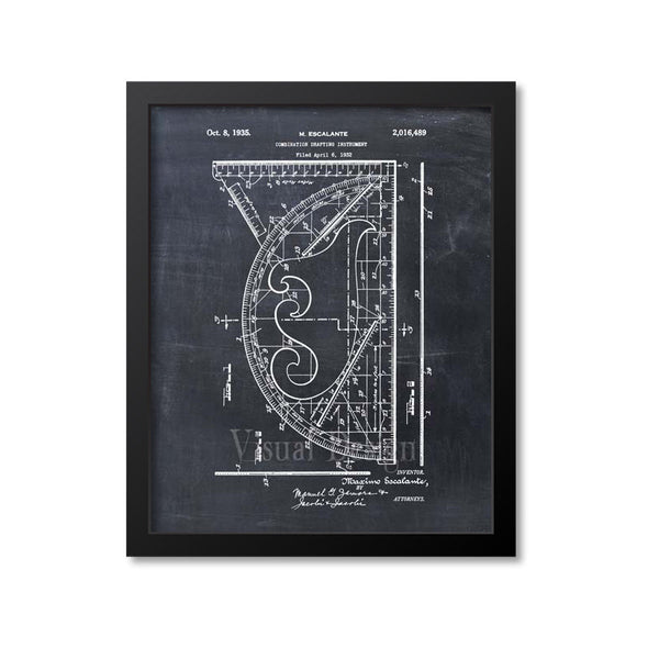 Combination Drafting Instrument Patent Print