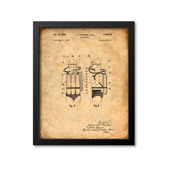 Diving Unit Air Tank Patent Print
