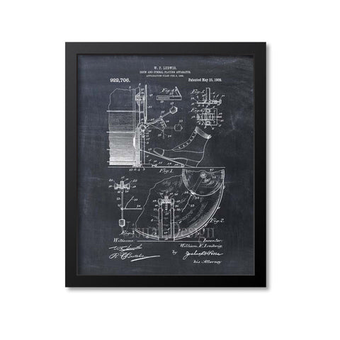 Drum And Cymbal Patent Print