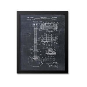 Electric Guitar Patent Print