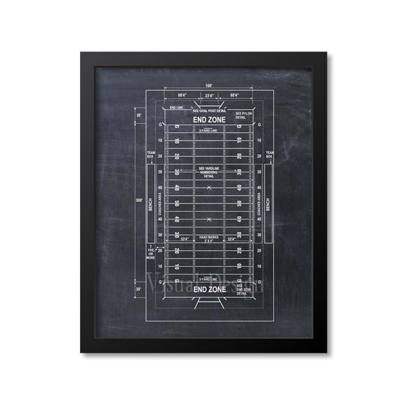 Football Field Patent Print