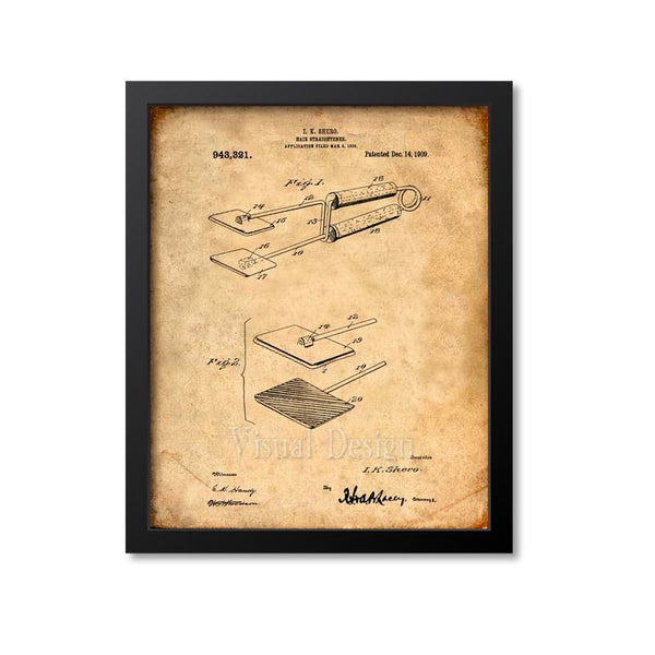 Hair Straightener Patent Print