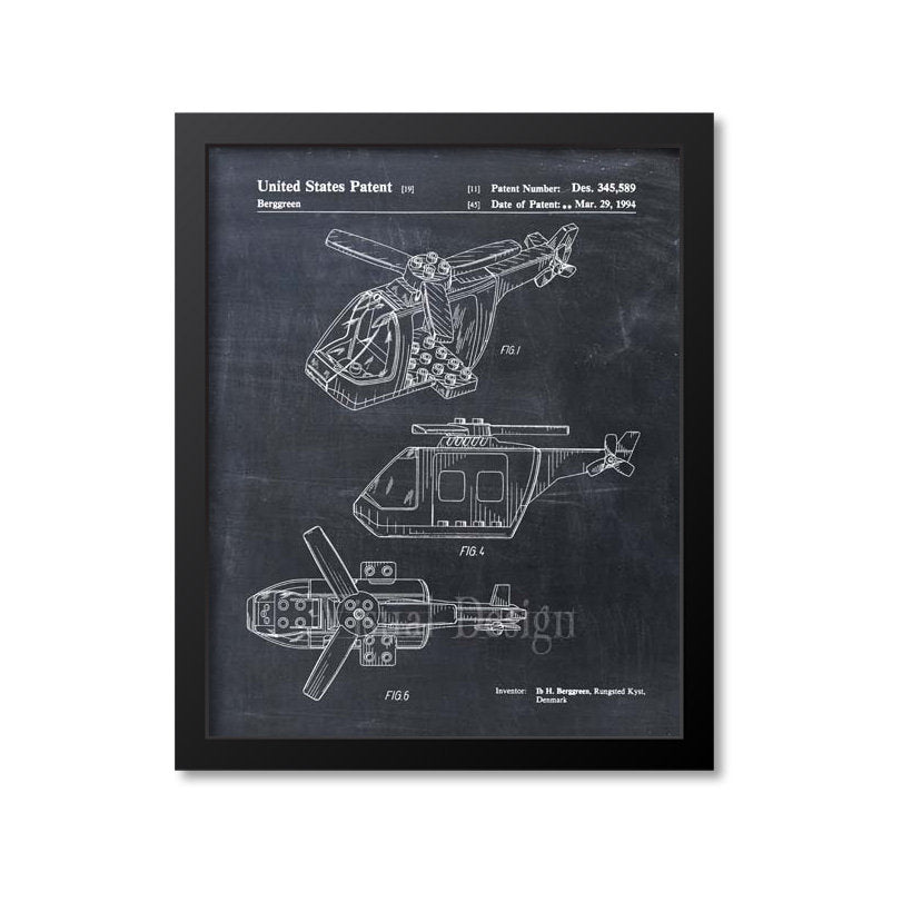 Lego Helicopter Patent Print