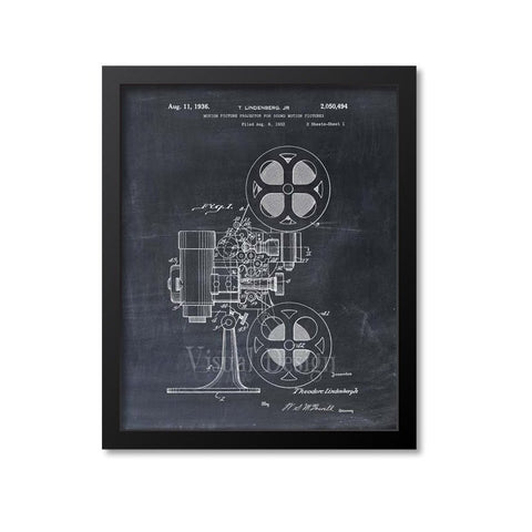 Motion Picture Projector Patent Print