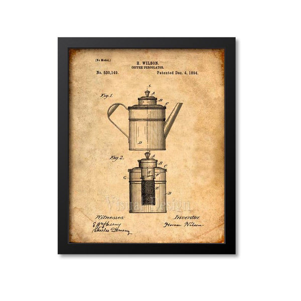Coffee Pot Patent Print