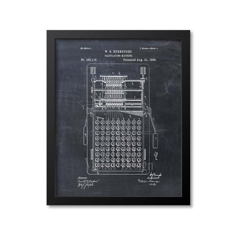 Adding Machine Patent Print