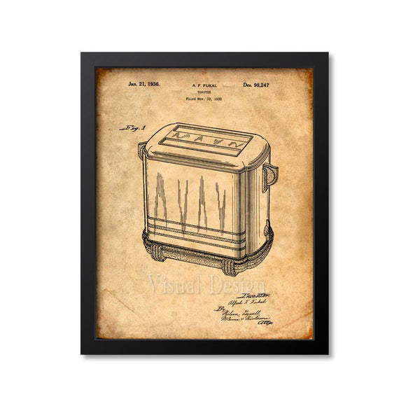 Toaster Patent Print
