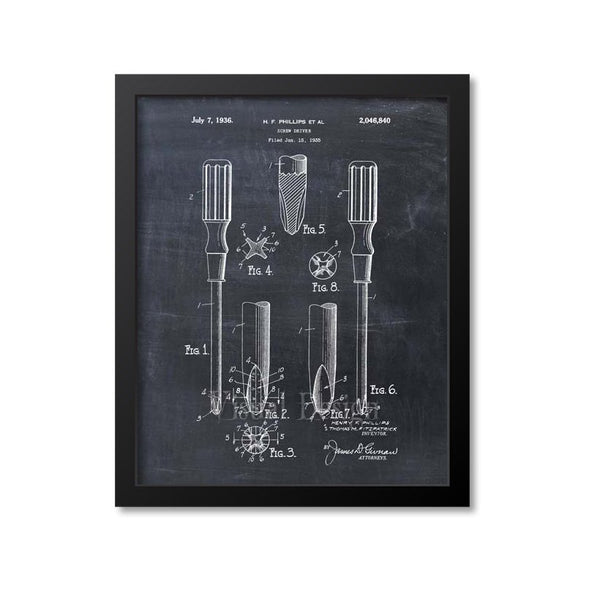 Phillips Screwdriver Patent Print