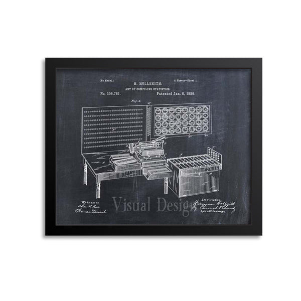 Punched Card Tabulation Patent Print