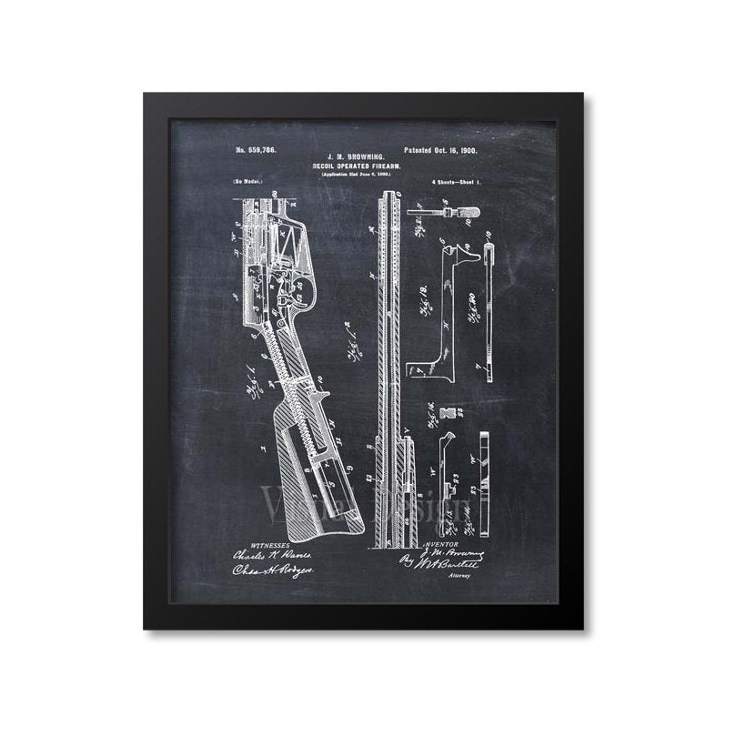 Remington Model 8 Semi Automatic Rifle Patent Print