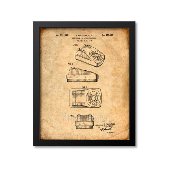 Rotary Dial Telephone Patent Print