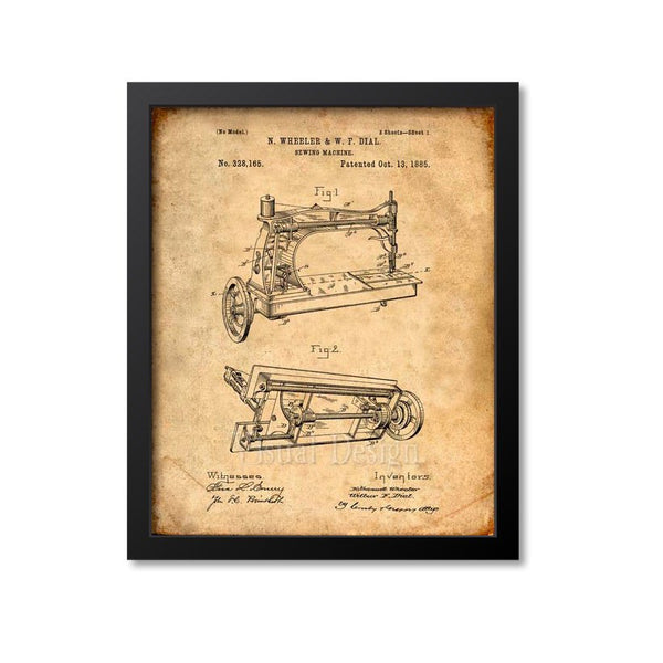 Sewing Machine Patent Print