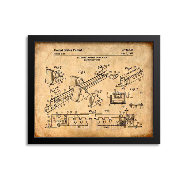 Starting Blocks Patent Print